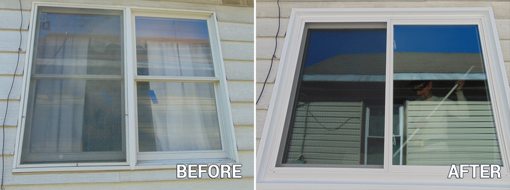 Window Before and After Replacement