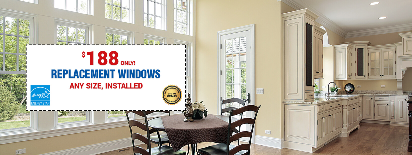 Energy Efficient Replacement Windows at $188